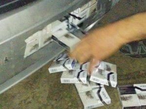 İran aracında kaçak sigara ele geçirildi