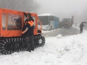 2 otobüsteki 75 kişiyi AFAD ekipleri kurtardı