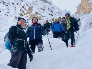 Mar Şalita Manastırı'na kış tırmanışı