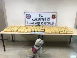 Hakkari'de 73,6 kilo eroin ele geçirildi