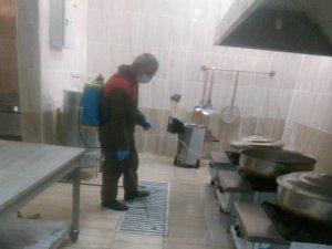 Hakkari'deki pansiyonlar dezenfekte edildi