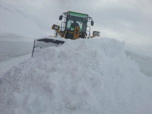 Hakkari'de 6 mezra yolunda karla mücadele sürüyor
