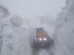 Yüksekova'da yüksek kesimlerde kar mücadelesi