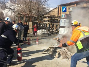 """VEDAŞ'tan Yangın Tatbikatı"""