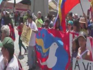 Venezuela'da ABD karşıtı protesto
