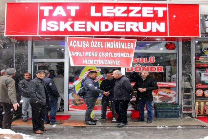 """Hakkari'de """"Tat Lezzet İskenderun"""" hizmete açıldı"""