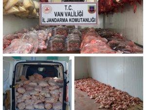 3 bin 500 kilo kaçak et ele geçirildi