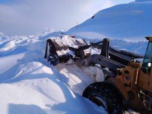 Kayak merkezi yolunda genişletme çalışmaları