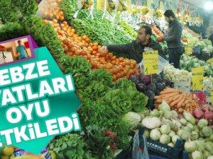 Sebze fiyatları oyu etkiledi