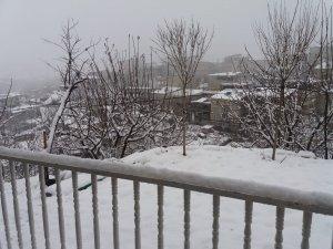 Hakkari'de Nisan ayı sonunda kar sürprizi