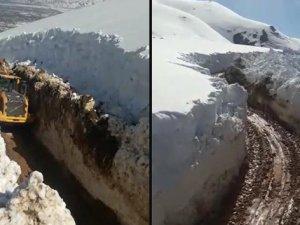 Mayıs ayında 5 metre karla mücadele