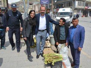 Eşbaşkan Karaman, pancarcı ve esnaf ziyareti yaptı