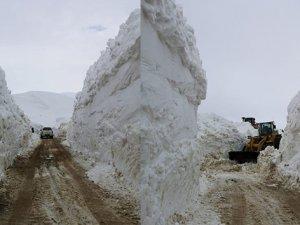 Mayıs ayında 7 metre karla mücadele