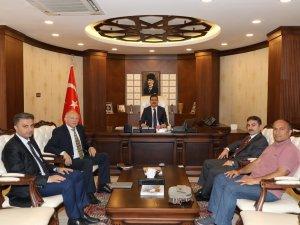 Prof. Dr. Öztürk ve Doç. Dr. Hanilçi'den  Vali Akbıyık'a ziyaret
