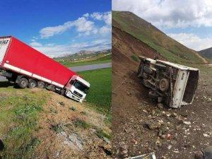 Yüksekova-Van karayolunda iki ayrı kaza