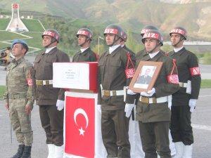 Şehit onbaşı Köklü için Hakkari'de tören düzenlendi
