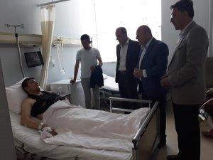 Başkan Er, yaralı askerleri ziyaret etti