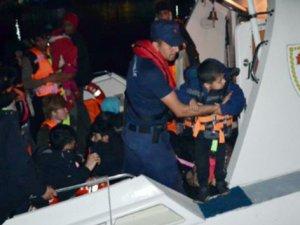 21'i çocuk 35 kaçak göçmen yakalandı