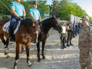 Van'da Jandarmanın atlı timleri görev başında