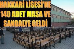 LİSESİYE 10 YIL SONRA MALZEME GELDİ