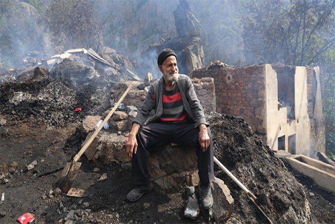 1 kişi öldü, 7 ev kül oldu...