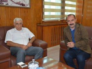 Eski Başkan Ümit'ten yeni Başkan Karaman'a ziyaret