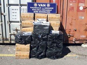 14 bin 800 paket kaçak sigara ele geçirildi