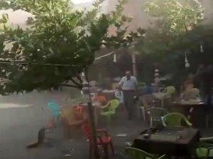 Çukurca'da fırtına çatıları uçurdu, ağaçları devirdi