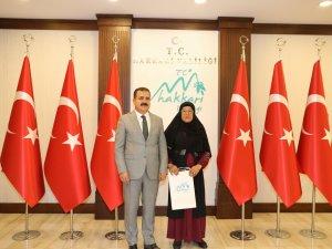 Tek kadın muhtar'dan Vali Akbıyık'a ziyaret