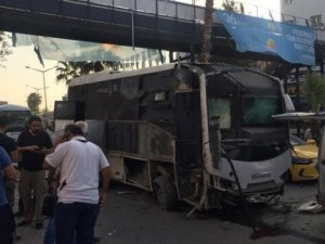 çevik kuvvet servisine bombalı saldırı