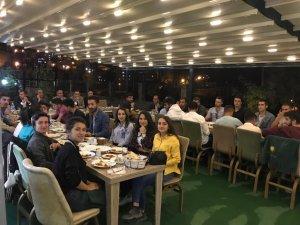 Hakkari'de hakem, gözlemciler yemekte buluştu