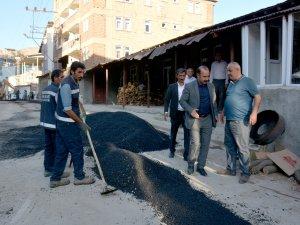 Hakkari Gazi Mahallesi Yolları Onarılıyor
