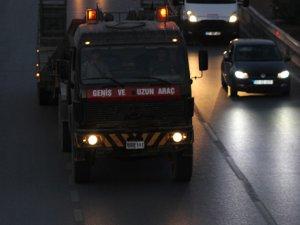 Suriye sınırına askeri araç sevkiyatı