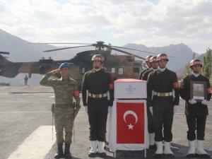 Kaza'da şehit olan asker memleketine uğurlandı