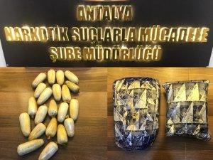 Antalya'ya uyuşturucu götüren 2 şüpheli yakalandı