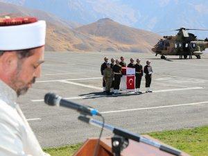 Şehit Onur Yavan için Hakkari'de tören düzenlendi