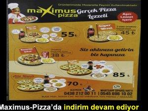 Maximus-Pizza'da indirim devam ediyor