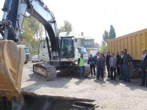 Yüksekova'da altyapı çalışmaları başlatıldı