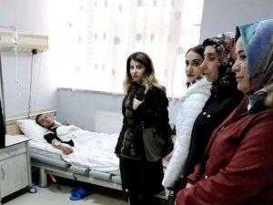 Başkanlardan yaralı askerlere ziyaret