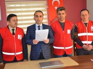 Hakkari Kızılayı yardım kampanyası başlattı