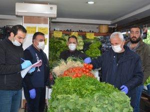 Hakkari'de Sebze meyve denetimi