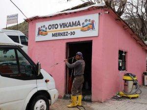 Oto yıkama merkez-30 hizmete açıldı