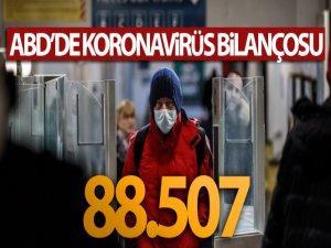 ABD'de virüsten ölenlerin sayısı 88 bin 507'ye yükseldi