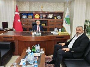 Başkan Özbek'ten Başkan Taş'a ziyaret