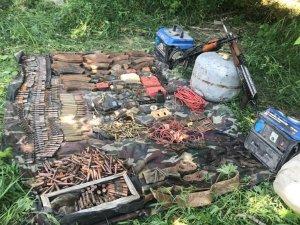 Oğul köyünde silah ve mühimmat ele geçirildi