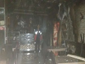 Hakkari'de lokanta yangını