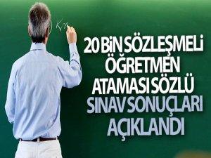 20 bin sözleşmeli öğretmen ataması sözlü sınav sonuçları açıklandı