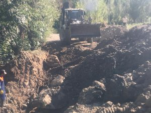 Hakkari belediyesinde kanalizasyon çalışması