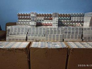 38 bin 750 paket kaçak sigara ele geçirildi