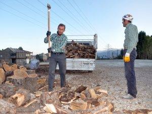Oduncuların kış hazırlığı